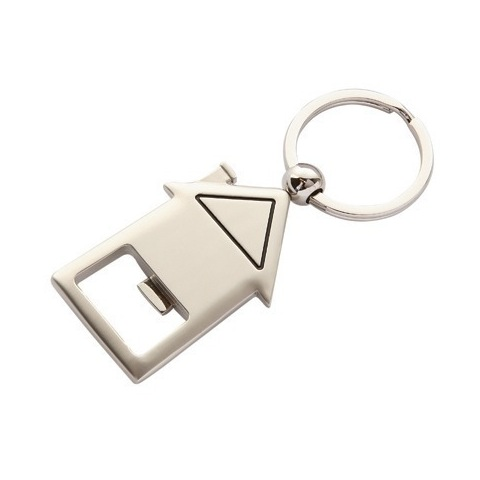 1011 House shaped bottle opener keyring