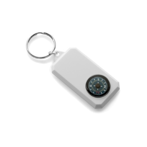 Plastic key holder compass