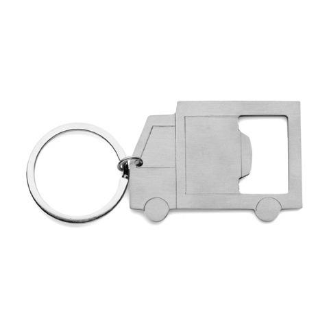 Truck bottle opener keyring