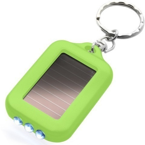 Solar powered torch keyrings