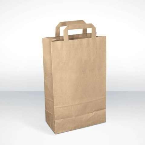 Medium recycled paper carrier bags