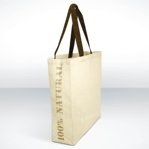 Natural pre printed camden bag
