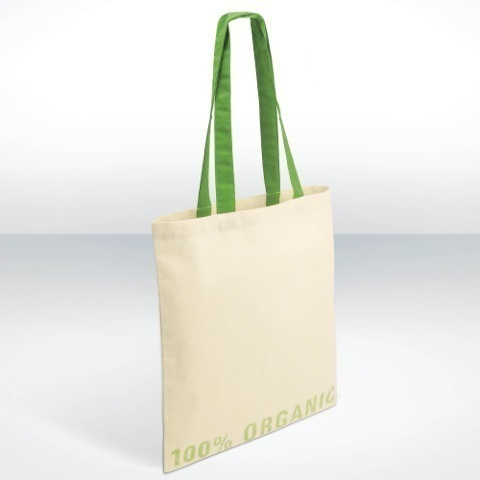 Organic pre printed cotton shopper