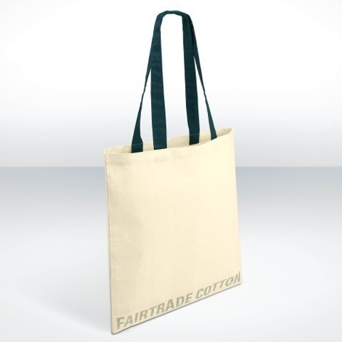 Fairtrade pre printed cotton shopper