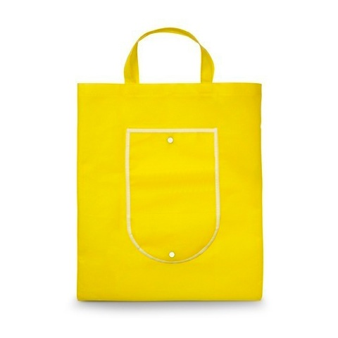 1141 Foldable shopping bag in buttoned pouch