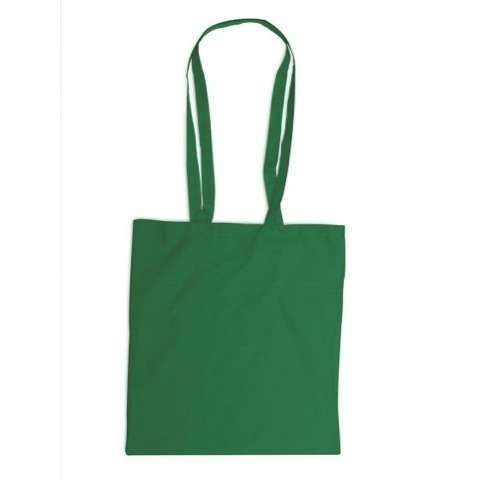 Colourful cotton bag with long handles
