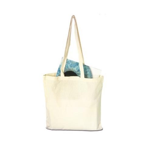 Long handled cotton shopping bag
