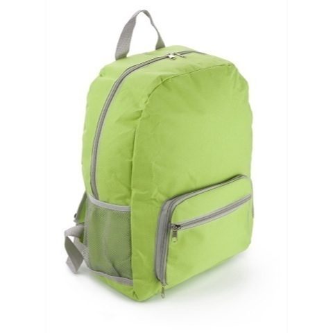 Fold up polyester backpack