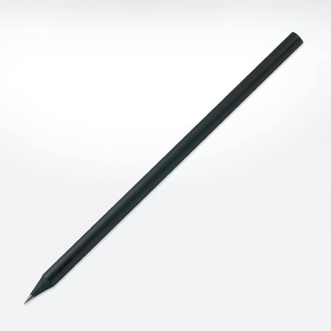 Black wooden eco pencil without eraser