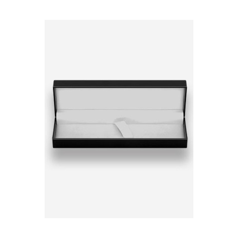 Black card presentation box suitable for one or two pens.