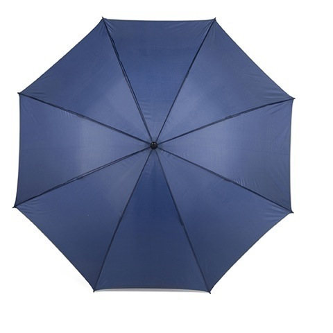 Umbrella with reflective edge.
