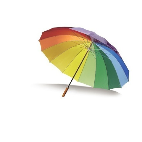 Multi coloured umbrella
