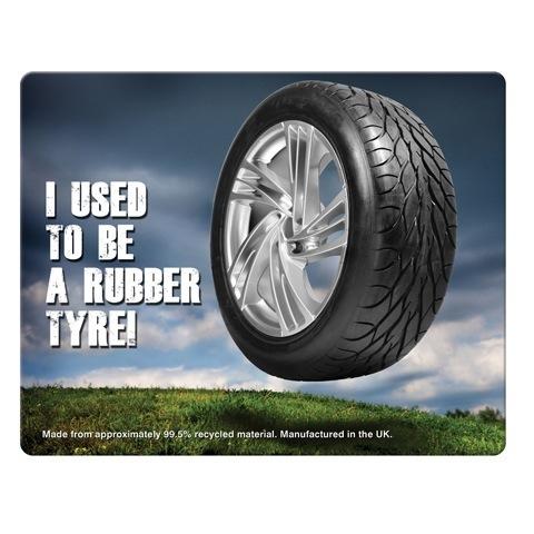 2133 Rectangular brite mat recycled tyre mouse mat