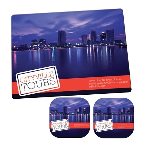Brite mat mouse mat & 2 coaster set