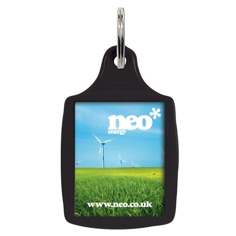 A5 plastic recycled keyring