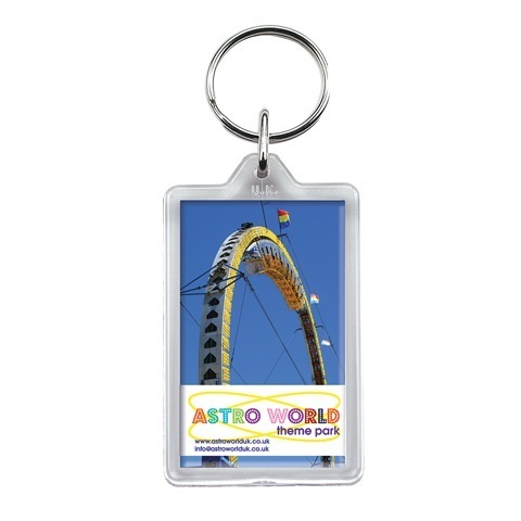 G1 re-openable rectangular plastic keyring