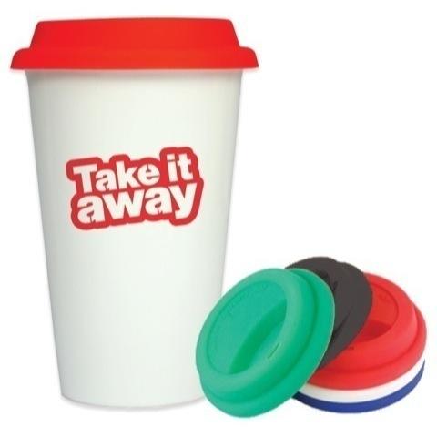 Takeaway full colour printed mugs - 270ml